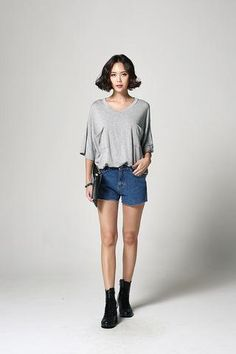 Patched Pocket Long T-shirt T-S