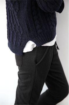 Knit wear. Dark colors