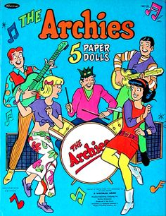 The Archies 5 Paper Dolls  Whitman/Western Publishing (USA) 1969