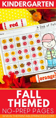 This no prep fall activities printables pack contains tons of fall themed literacy and math pages for your kindergarteners. Students will love the pumpkins, scarecrows, leaves, apples, and fall kids throughout their work as they practice letter recognition, word work, letter sounds, rhyming words, subitizing, counting and more! Kindergarten Math Activities, Kindergarten Classroom, Math Pages, Subitizing, Rhyming Words, Scarecrows, Letter Recognition, Letter Sounds, Autumn Activities