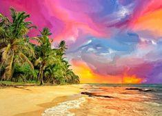 Pemandangan Kartun Terindah Apalagi Kalau Keindahan Pantainya Meliputi Airnya Yang Jernih Pasirnya Putih Dan Halus Semua Di 2020 Pemandangan Lukisan Ilustrasi Lukisan