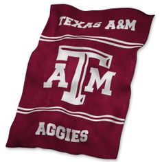 NCAA Texas A&M Aggies Ultrasoft Blanket by Logo. $29.99. Sometimes wearing a jacket at the game just isn't enough. Give yourself an extra layer of warmth when you wrap this NCAA® UltraSoft blanket from Logo Chair® around you. The polyester blanket is decorated with sublimated team graphics that are colorful and bright enough for all to see.