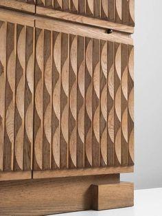 Brutalist Bar-Cabinet in Blond Oak 4