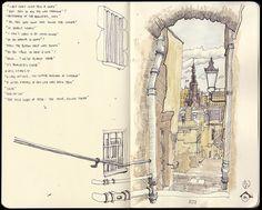 Travel sketchbook By Stuart Kerr