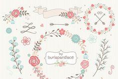 Wreath flower clipart - Illustrations