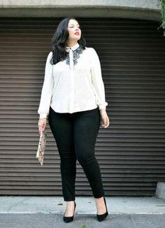 Outfits para ir al trabajo formal y a la moda tallas grandes