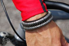 Bicycle Chain Link and Leather Bracelet by BALAYdesigns on Etsy, $75.00