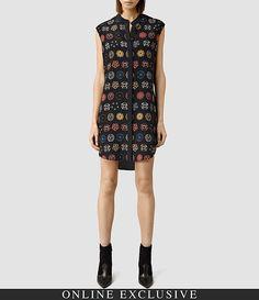 Women's Luna Aries Dress (Black) -