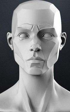 Facial Anatomy, Head Anatomy, Anatomy Art, Anatomy Drawing, Volume Art, Statues, Planes Of The Face, Anatomy Sculpture, Drawing Heads