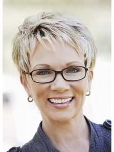 Attractive Short Hairstyles For Women Over 50 With Glasses In 2018