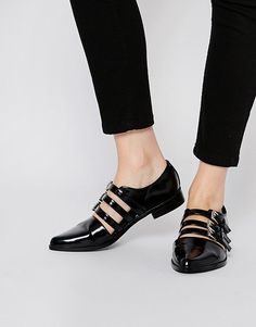 Buy ASOS MAGIC TRICK Flat Shoes at ASOS. Get the latest trends with ASOS now. Pretty Shoes, Beautiful Shoes, Cute Shoes, Me Too Shoes, Shoe Boots, Shoes Sandals, Flat Shoes, Women's Flats, Strappy Flats