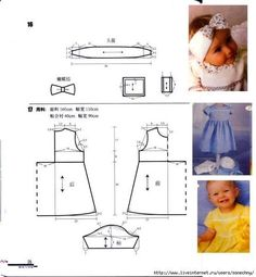 images attach c 0 117 945 Kids Dress Patterns, Baby Clothes Patterns, Sewing Patterns For Kids, Sewing For Kids, Baby Patterns, Clothing Patterns, Baby Sewing Projects, Baby Girl Dresses, Toddler Dress