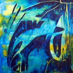 """""""Cisne"""" - Fernando Gastron - Oleo sobre tela - 80 x 80 cm. - www.esencialismo.com"""