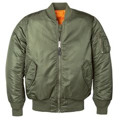 MA-1 W Flight Jacket. A military-rooted jacket that has crossed over into civilian fashion in a new and contemporary way. This classic can easily be modernized through sleek, simple accessories and clean cut pieces.