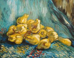 Still Life with Pears Van Gogh painting Canvas Print Vincent Van Gogh, Fabric Panel Quilts, Fabric Panels, Van Gogh Still Life, Van Gogh Paintings, Vacation Pictures, Amazing Art, Wrapped Canvas, Canvas Prints