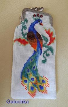 Embroidery Patterns Free, Baby Knitting Patterns, Beaded Embroidery, Bead Loom Patterns, Beading Patterns, Cross Stitch Patterns, Beaded Purses, Beaded Bags, Cross Stitch Geometric