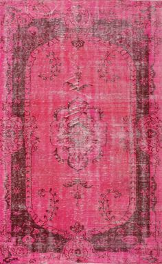 I want an overdyed rug!! Rugs USA Overdye ACC548A Pink Rug