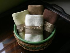 Leighton Point Linen: Set of Four - Tea Towel/Dish Towel- choose your colors- eco-friendly- 100% Flax Linen
