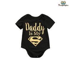 Daddy/'s Little Biker Baby Body Manches Courtes croître Garçons Filles