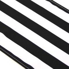 Striped Table Runner - Black