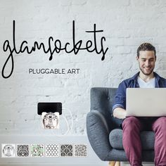 Glamsockets products are adding style and art to your everyday devices. Make sure to check us out: Side Tables Bedroom, Lovers Art, Your Space, Pattern Design, Charger, Interior Design, Check, Shop, Products