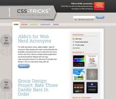 Loving the CSS-Tricks Layout #web #webdesign #webdevelopment #CSS #blog