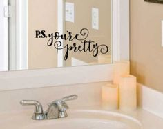 Hello Gorgeous Decal Bathroom Mirror Decoration Vinyl Lettering For Home Laptop Wall Fun Flirty Script Style