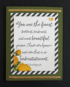 SSS March Stamp Kit - Journal Card as focal image on card front