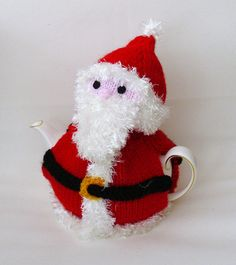 Knitted Father Christmas  Santa Claus tea cosy by TheFluffyDuck, £19.50