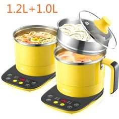Stainless Steel Multi Cookers Split Type Electric Hot Pot Cooker Reservation Keep Warm with 7 Menus Multicooker, Cookers, Hot Pot, Steamer, Electric, Stainless Steel, Warm, Type, Mini