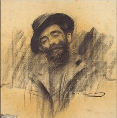 The Athenaeum - Portrait of Eliseu Meifrèn (Ramon Casas y Carbó - ) Fine Art Drawing, Guy Drawing, Figure Drawing, Painting & Drawing, Art Drawings, Ramones, James Mcneill Whistler, Beard Art, Digital Museum