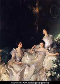 John Singer Sargent. Each lady has their own portrait here, even though it is a group portrait.