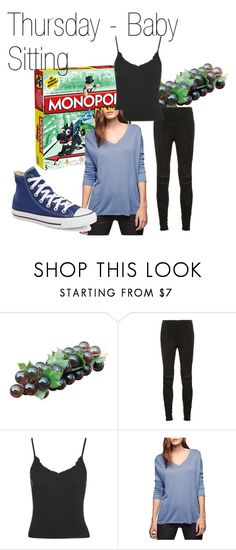 """""""Thursday #3 - Baby Sitting"""" by jess-brass on Polyvore featuring Yves Saint Laurent, Topshop, Gérard Darel and Converse"""