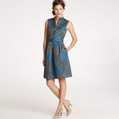 J crew - Bonnie dress in toile jacquard