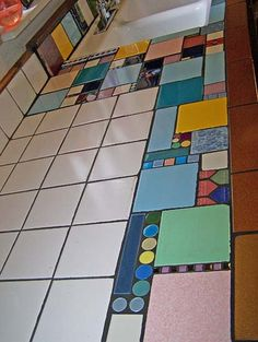 I like the random tiles.  Lots of options when changes the looks of your kitchen.