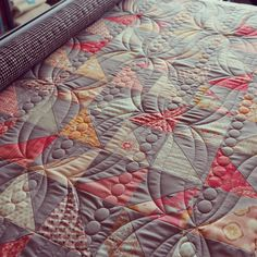 Going through photos and realized that I never posted a picture of the quilting on this baby quilt.