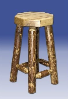 Montana Woodworks MWGCBN Glacier Country without Back Bar Stool, by Montana Woodworks. $155.19. Finish:Stained and Lacquered Perfect for the bar, the bistro table or anywhere a touch of rustic completes the scene Built with durability in mindMortise and tenon joinery systemWill last for generations Topped with an octagonal piece of 2.5' thick laminated pine Unique, one-of-a-kind look reminiscent of the Grand Lodges of the Rockies, circa 1900 Comes fully assembled 20-year...
