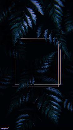 illustration of Square golden frame on a tropical - Square golden frame on a tropical background