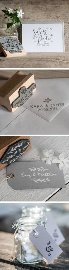 Create your own custom personalised quality rubber stamp with a save the date flourish theme, perfect for stamping on fabric, wood and many other surfaces. Wedding Stamps, Wedding Stationery, Wedding Suite, Our Wedding, English Stamp Company, Save The Date Stamp, Custom Rubber Stamps, Flourish, Floral Wedding