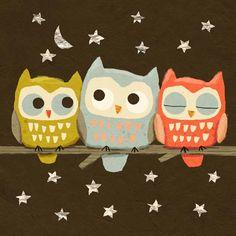 cally jane studio: Night Owls