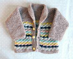 Lazy Daisy Baby Jacket - free knitting pattern, 3-6 m. - Pickles