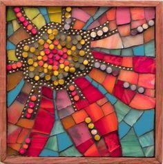 Sky Flower 3 by Patricia Ormsby   ~  Maplestone Gallery  ~  Contemporary Mosaic Art