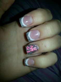 french tip camo browning nails