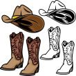 Cowboy Hat and Boots   Stock Illustration   iStock