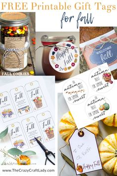Over 75 Fabulous Free Fall Printables - printable art, gift tags, coloring pages, and more - The Crazy Craft Lady Fall Teacher Gifts, Teacher Gift Tags, Fall Gifts, Teen Gift Baskets, Raffle Baskets, Free Printable Gift Tags, Printable Art, Free Printables, Hostess Gifts