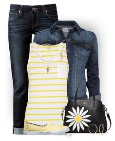 Untitled #2451 by sherri-leger on Polyvore featuring polyvore, fashion, style, Barbour, MANGO, Paige Denim, Vans, Kate Spade, New Directions and clothing