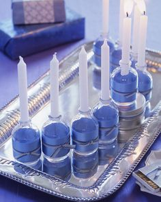 DIY menorah for Hanukkah