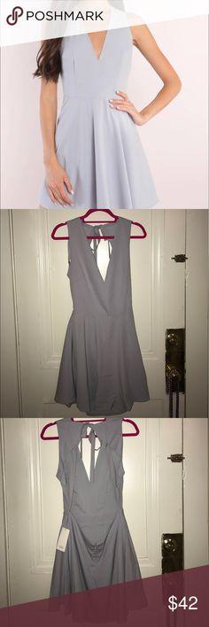 Annie Open Back Lilac Skater Dress NWT! Adorable lilac colored casual Tobi skater dress! Tobi Dresses Mini