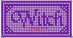 Filet crochet a Witch name doily altar cloth. Worked vertically for your ease.