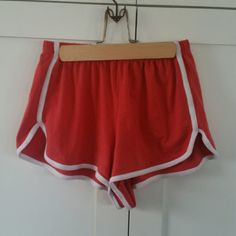Brandy Melville red baseball shorts Super cute! Brandy Melville Shorts